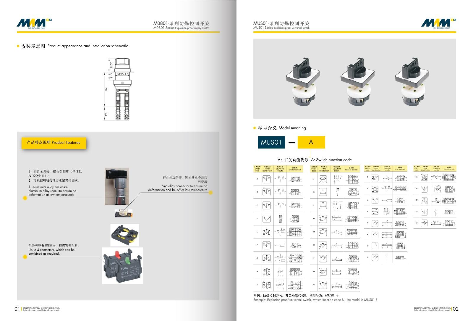 Universal Change-over Switch MEC-US01 Series