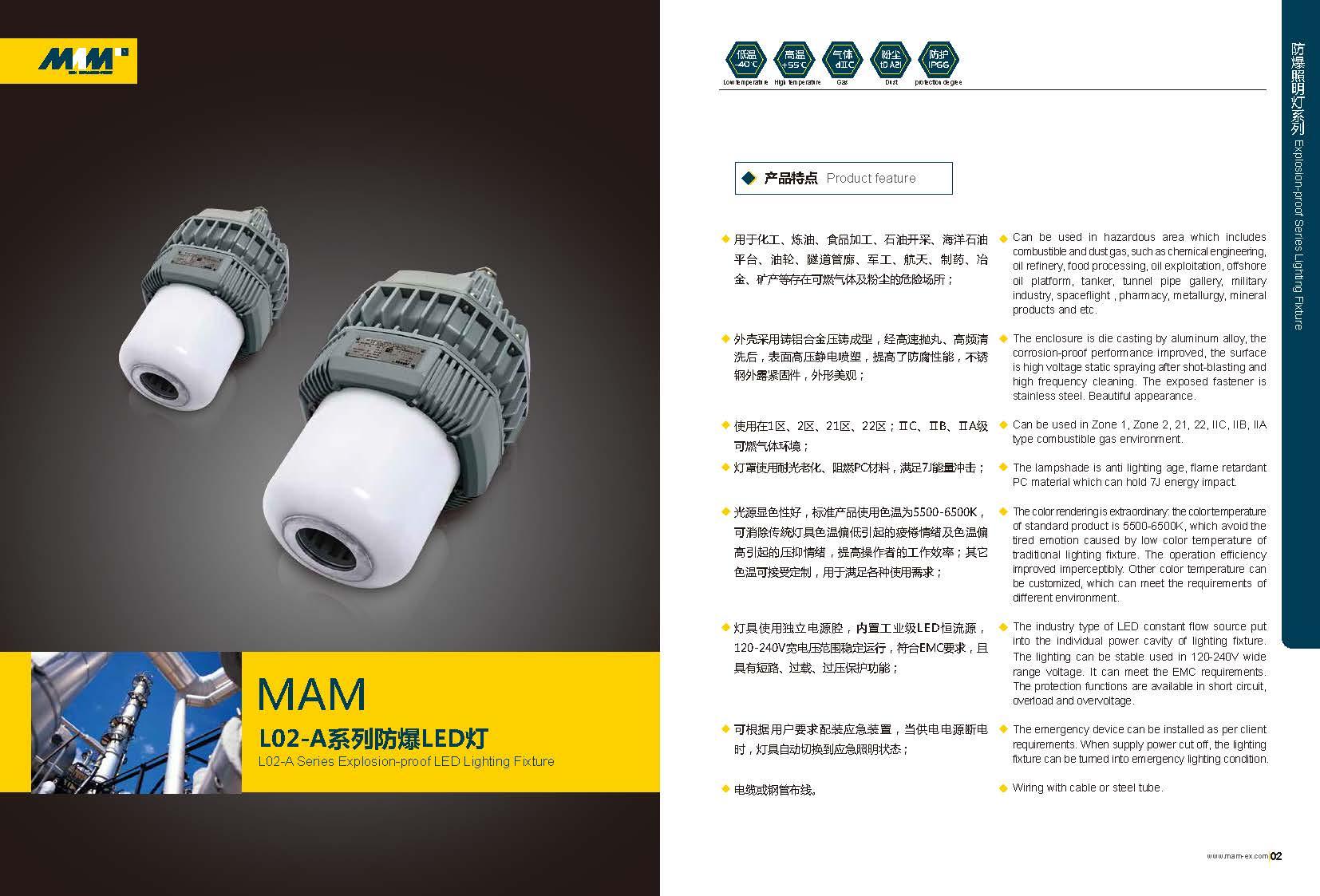 Explosion-proof LED Lighting Fixture, MAML02-A Series