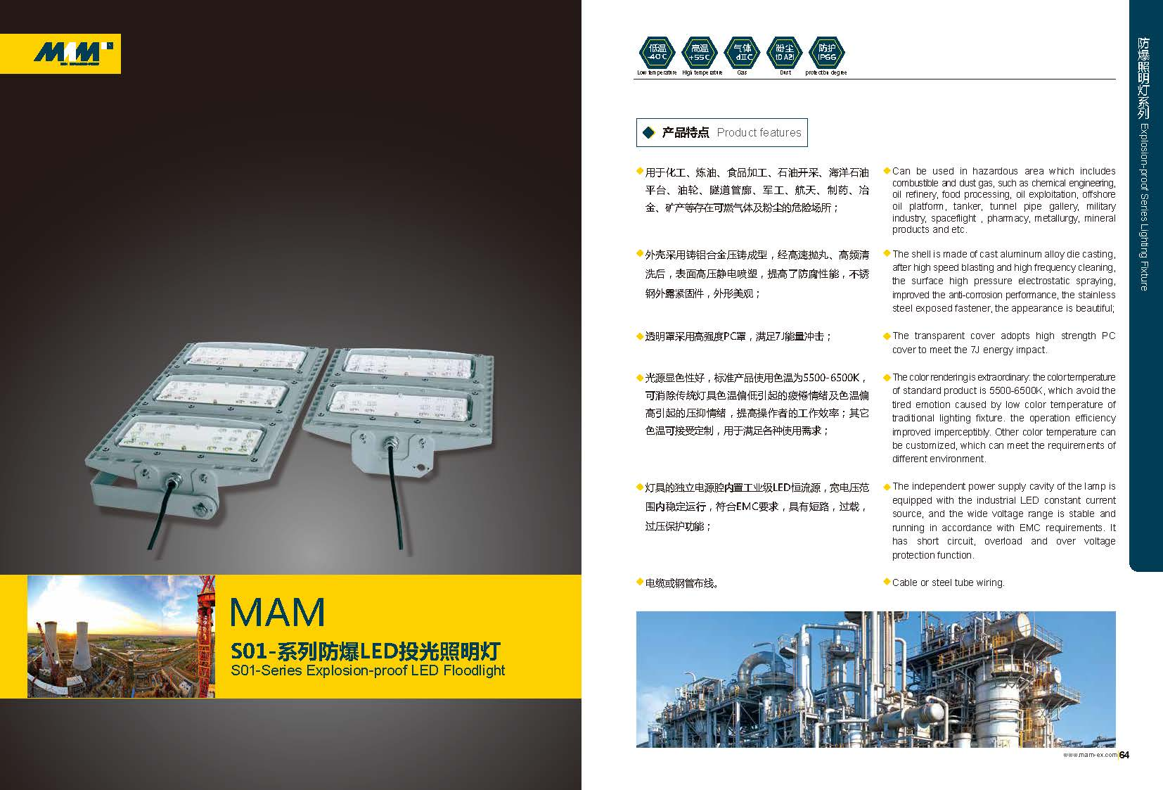 Explosion-proof LED Floodlight MAMS01-Series