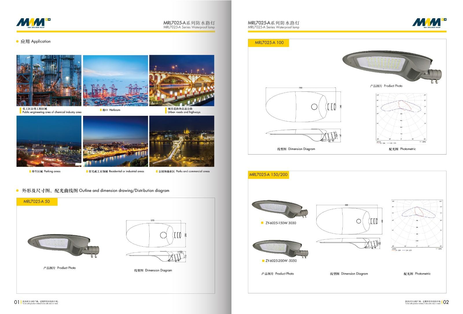 Waterproof Street Lamp MRL7025-A Series