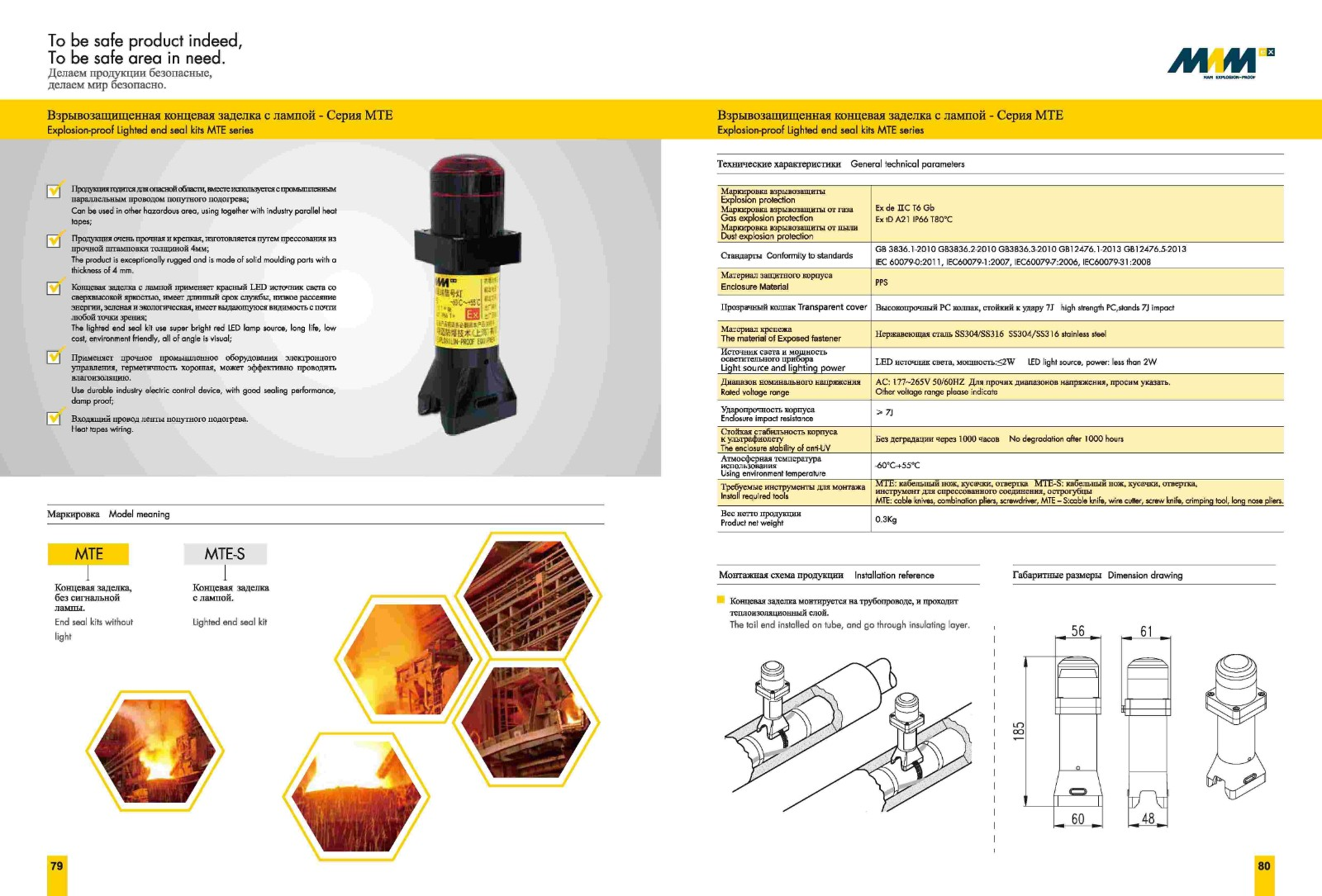 Explosion-proof Tail Signal Lamp MTE Series